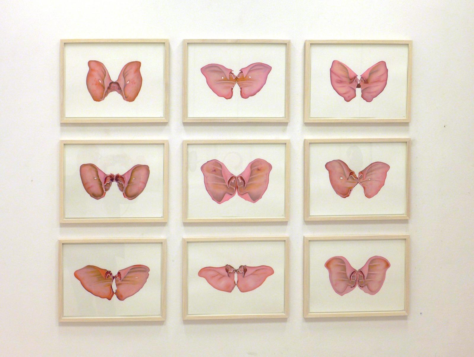 Wilma Stegeman Pink Butterflies
