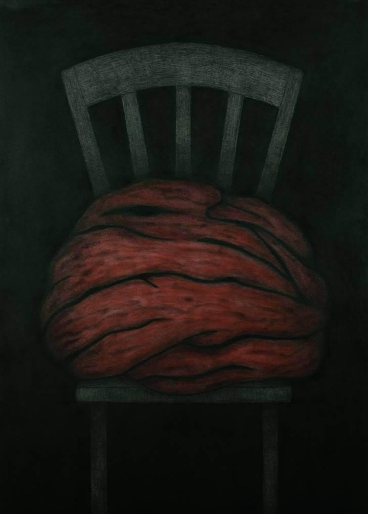 portfolio item Wilma Stegeman met de titel: Blob op stoel